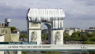 L'arc de triomf de París, embolicat: el somni de l'artista Christo