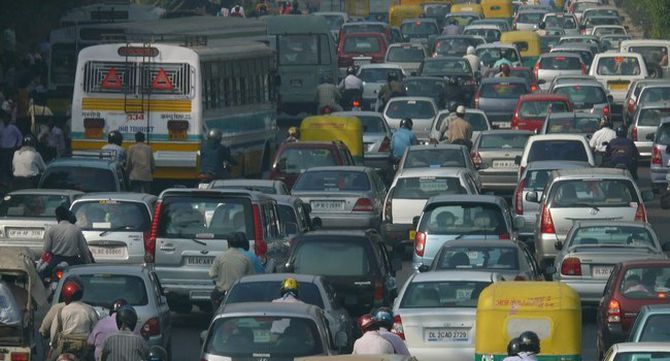Embús de trànsit a Delhi