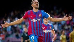 Luuk de Jong s'estrena com a golejador del Barça