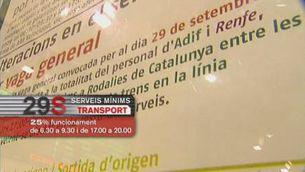 Serveis mínims al transport públic