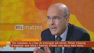 Boi Ruiz justifica les retallades per mantenir el sistema sanitari