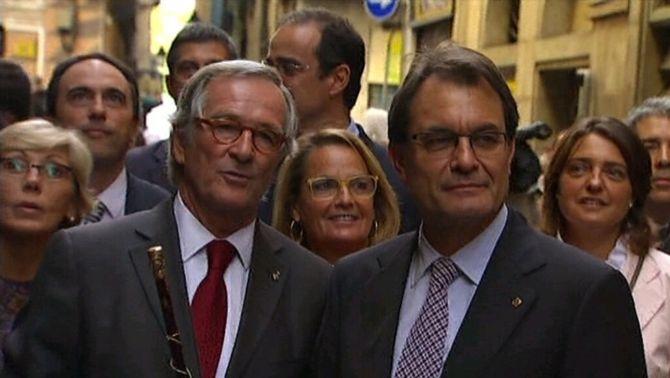 El president Artur Mas ha participat en les festes de la Mercè de Barcelona.