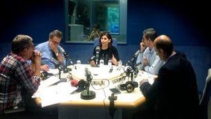 Taula rodona d'enginyers amb: Martí Casadesus, Carles Martín, Julio Garcia, i, Daniel Cruzado
