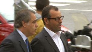 Sandro Rosell, després de declarar a la Ciutat de la Justícia