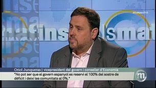"""Junqueras: """"No pot ser que el govern espanyol es reservi el 100% del sostre de dèficit i deixi les comunitats al 0%"""""""