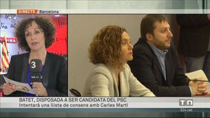 Meritxell Batet i Carles Martí negociaran una llista de consens