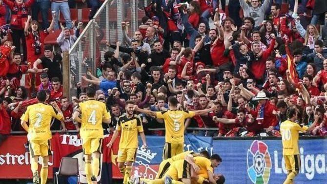 El Girona perd contra l'Osasuna (0-1) i deixa escapar una temporada més l'ascens a Primera
