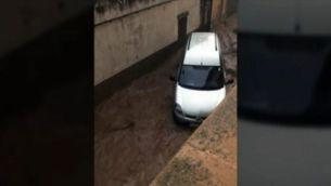Una allau d'aigua i fang devasta, de nit, Sant Llorenç des Cardassar