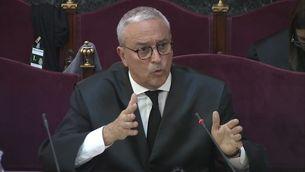 Xavier Melero durant l'exposició de les seves conclusions al judici del procés