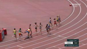 Caiguda i increïble remuntada de Hassan als 1.500 m