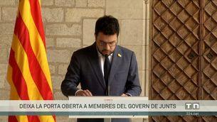 """Aragonès diu que no pensa desaprofitar una oportunitat històrica i demana lleialtat a Junts: """"La negociació és de govern a govern"""""""