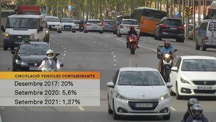 Continuen circulant per la ZBE un 1,36% dels vehicles sense etiqueta