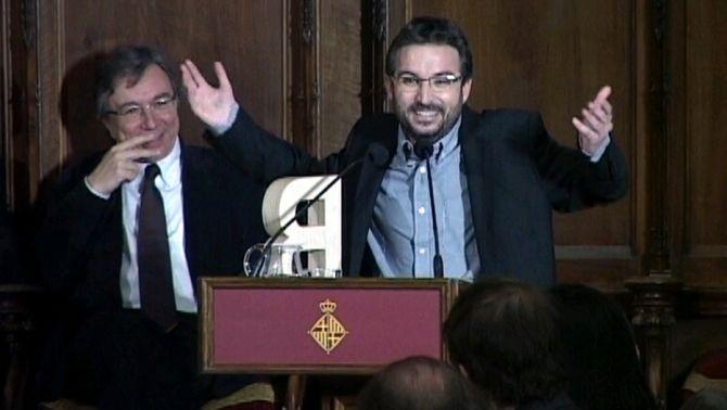 """Jordi Évole ironitza amb els Gaudí en recollir el Premi Ciutat de Barcelona: """"No criticaré Trias, ho fa tot bé"""""""