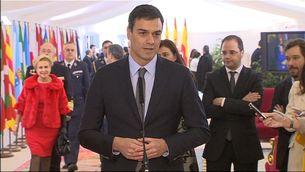 Pedro Sánchez als actes de commemoració de la Constitució
