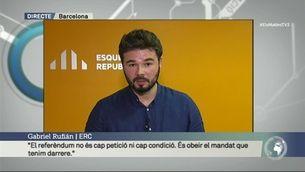 """Rufián: """"El referèndum no és cap petició ni cap condició. És obeir el mandat que tenim"""""""