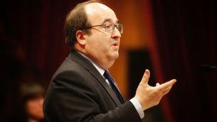 """Miquel Iceta s'ha mostrat sorprès per la proposta de caràcter """"autonomista"""", ha dit, de Jordi Turull (ACN)"""
