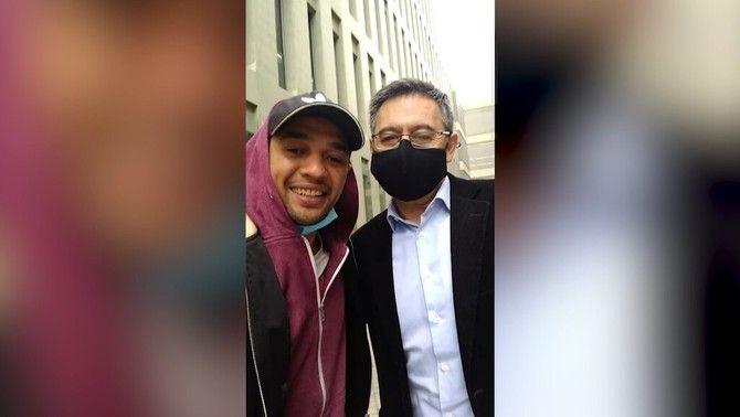 El vídeo selfie viral d'un aficionat amb Bartomeu