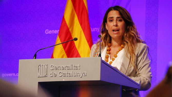 La portaveu del govern, Patrícia Plaja, durant la roda de premsa d'aquest dimarts