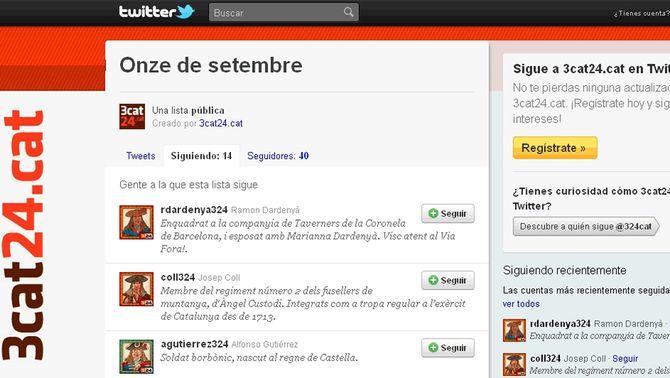 L'11 de setembre del 1714 reviu a Twitter amb #11set1714