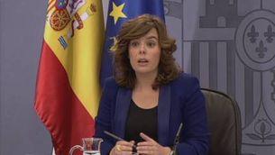 Soraya diu que el govern no en sabia res
