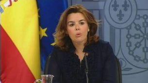 """Soraya qualifica de """"pacte d'Estat"""" l'acord amb les comunitats autònomes"""