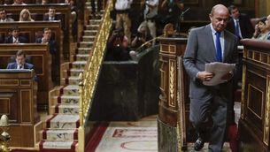 De Guindos, durant el ple d'aquest dimarts al Congrés dels Diputats (EFE)