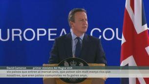 David Cameron culpa la política d'immigració europea del Brexit