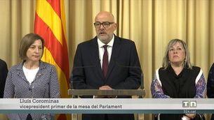 Corominas i Barrufet s'acullen al dret de la inviolabilitat parlamentària fins a les últimes conseqüències