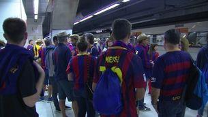 Els culers viatgen a Madrid amb la il·lusió de conquerir la Copa