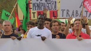 La manifestació del 3-O, massiva des dels Jardinets de Gràcia a Via Laietana
