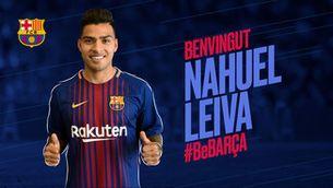 Nahuel Leiva, cedit al Barça B