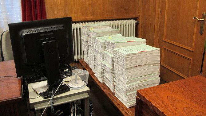 Documentació del judici al jutjat de Barbastre