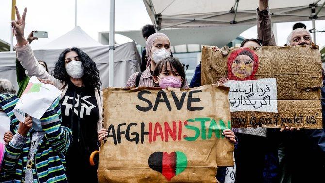 Protesta a Berlín contra la situació a l'Afganistan