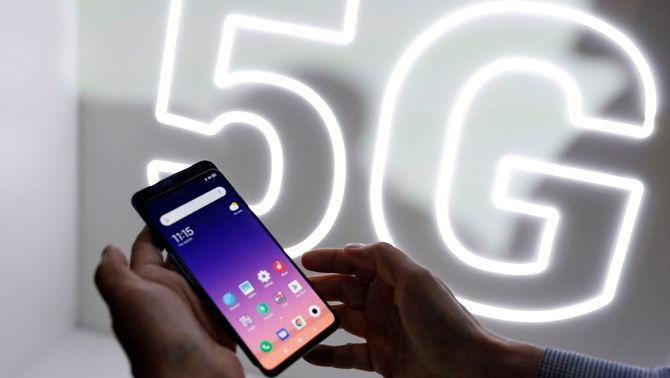 Arxiu dispositiu Xiaomi 5G exposat al Mobile World Congress de Barcelona