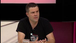 """Josep Manel Busqueta, durant l'entrevista al programa """".CAT"""""""