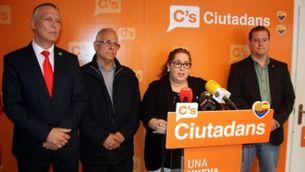 Roda de premsa del grup municipal de Ciutadans de Girona