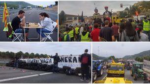 Les manifestacions per l'aturada de país tallen les principals carreteres catalanes