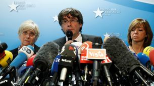 Roda de premsa de Carles Puigdemont a Brussel·les
