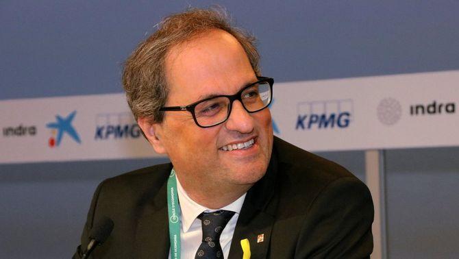 El president de la Generalitat, Quim Torra, a la inauguració de la reunió del Cercle d'Economia (ACN)