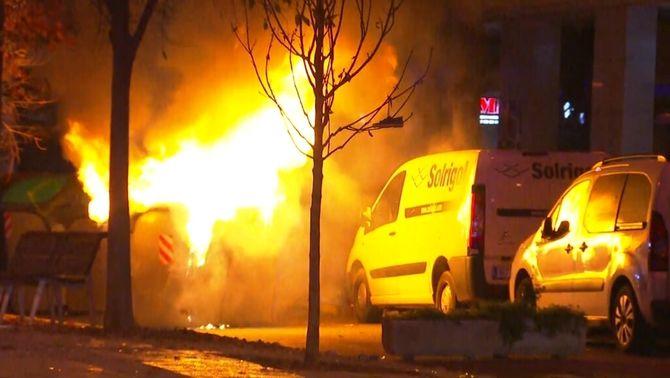 Almenys 19 ferits i dos detinguts en les càrregues contra antifeixistes a Terrassa