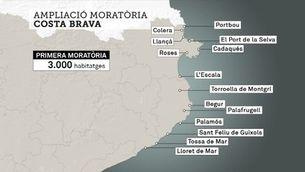 Aprovació d'una nova moratòria a la Costa Brava