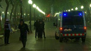 La policia actuant a Tarragona