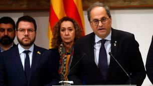 Quim Torra manté que la decisió del Suprem no l'inhabilita com a diputat ni president de la Generalitat (EFE/ Quique García)
