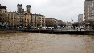 Tallada l'AP-7 a Figueres i perill de desbordament de l'Onyar i el Daró pel temporal Gloria