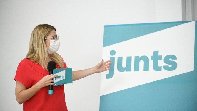 JxCat presenta el logo Junts per preparar el nou partit que impulsa Puigdemont