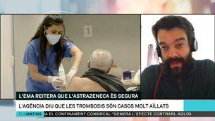 """Daniel Prieto-Alhambra: """"Espanya es contradiu a si mateixa amb la vacuna d'Astrazeneca"""""""