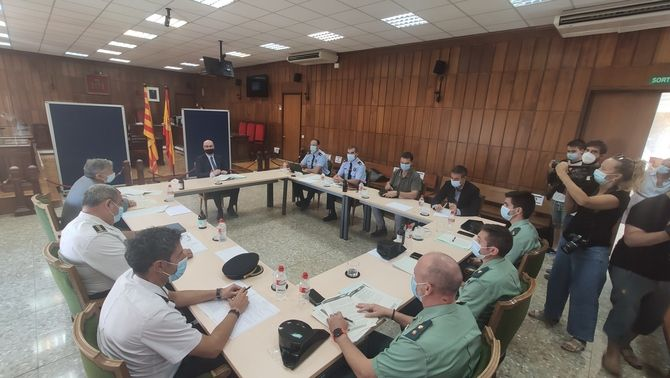 Reunió de coordinació policial a l'Audiència de Tarragona