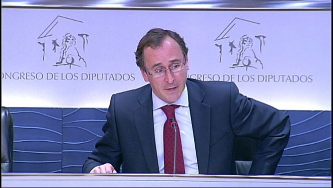 El portaveu del PP al Congrés, Alfonso Alonso.
