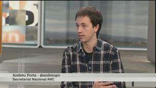 Entrevista a Andreu Porta, de l'ANC, sobre les autoinculpacions pel 9-N
