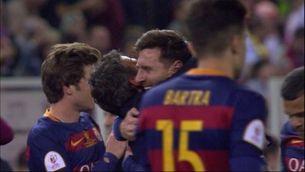 Emotiva abraçada de Luis Enrique i Messi
